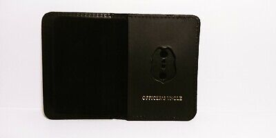 NJ/NY Style-Police-Sergeant Officer's Uncle Family Mini Badge ID Wallet Leather • 10.12£