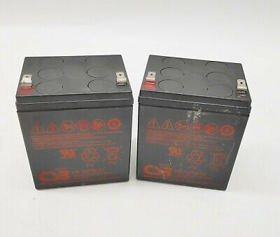 AU13.99 • Buy 2x Used Long 12V 5AH Sealed Lead-acid Rechargeable Battery 12v 5.0Ah 1-month Wty