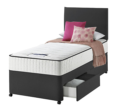 Single Divan Bed Set 3FT Drawer Option With Mattress For Kids Adults & Children • 209.95£