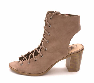 $16.14 • Buy American Rag Women's Savanah Open Toe Ankle Fashion Boots, Taupe, Size 7.5