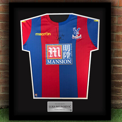 Hand Signed Luka Milivojević Crystal Palace F.C.Professionally Framed Shirt  • 214.99£