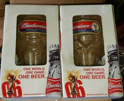 $ CDN10 • Buy Lot Of 2 Budweiser 2006 Collector Glasses