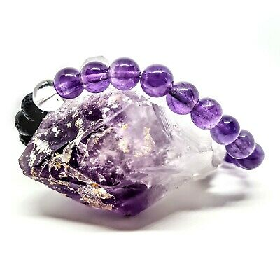 AU32.50 • Buy Amethyst Crystal Aromatherapy Oil Diffuser Anxiety Bracelet Women Men Child All