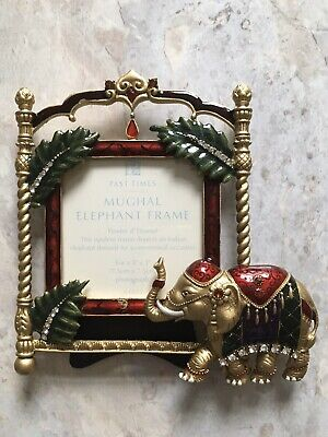 Enamel And Pewter Crystal Indian Mughal Style Elephant Picture Frame • 25£