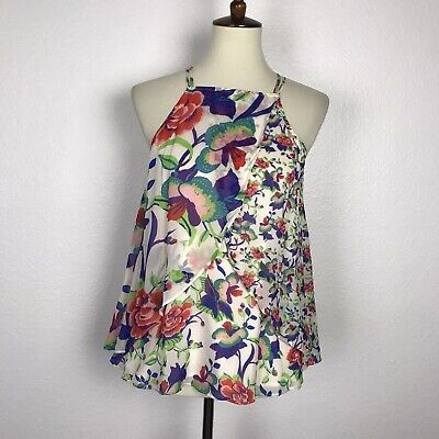 $ CDN21.21 • Buy Anthropologie Maeve Women Sz XS Tank Top Shirt Blouse St. Lucia Floral NWT