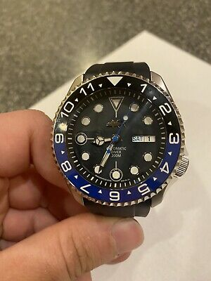 $ CDN506.20 • Buy Seiko SKX007 Day Date Divers 200m GMT Batman Custom Automatic Mens Watch