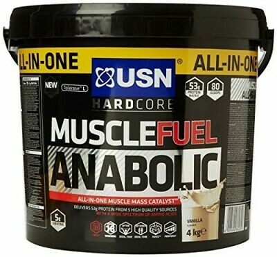 USN Muscle Fuel Anabolic 2kg Or 4Kg All In One - Lean Muscle Gains All Flavours • 29.95£