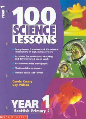 100 Science Lessons For Year 1 (100 Science Lessons ... By Wilson, Gay Paperback • 4.99£