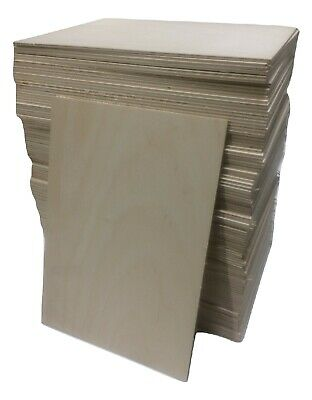 FSC   BIRCH PLY  Plywood Boards All Sizes 3mm 4mm 6mm * Craft Laser Pyrography . • 23.33£