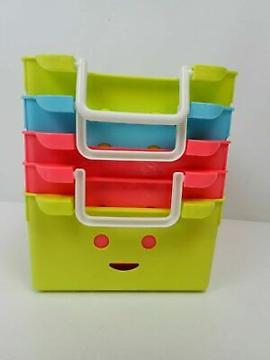 Kurtzy Coloured Handy Storage Baskets/Boxes With Handles Pack Of 5  • 16.59£