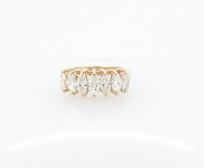 AU1150 • Buy .A 0.83ct Marquise Cut Diamond 14K Ladies Seven Stone Ring Size H Val $3390