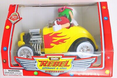 $41.23 • Buy Rare M&M's Rebel Without A Clue Yellow Hot Rod Candy Dispenser With Box No Candy