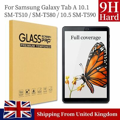Tempered Glass Screen Protector For Samsung Tab A 10.1 SM-T510 T580 10.5 SM-T590 • 3.98£