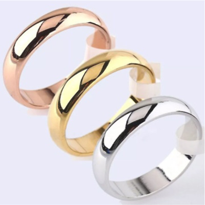 £5.99 • Buy 9ct 9K Gold Filled D Shaped Wedding Band Ring. White Gold,Yellow Gold,Rose Gold