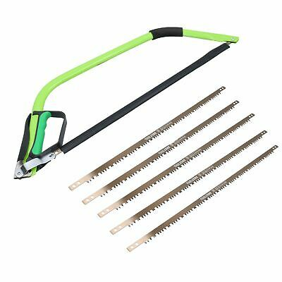 """£15.25 • Buy 24"""" Heavy Duty Bow Saw Wood Logs Trees Branches Finger Guard + 6 Blades"""