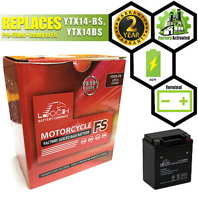 Leoch LT7-3 Sealed Upgrade Motorcycle AGM Battery Replaces YTX7L-BS, YTX7LBS • 23.99£