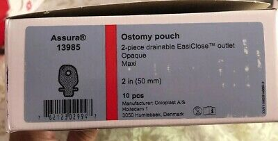 $15.95 • Buy Coloplast Ostomy Pouch Assura 13985 2 In 2 Piece Drainable 10 Pcs