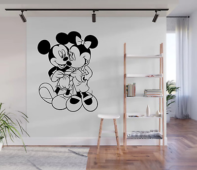 Mickey And Minnie Mouse Cartoon Styled Wall Art Decal Sticker CA3 • 9.99£
