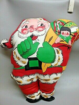 $ CDN20.01 • Buy Vintage Christmas 70s SANTA Pillow Doll Fabric Panel Pattern Cut & Sew Finished