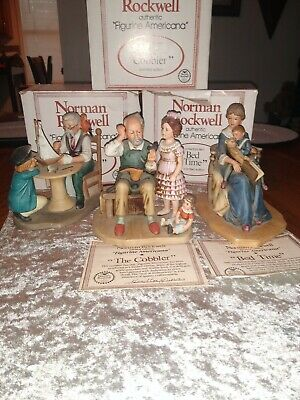$ CDN62.75 • Buy Norman Rockwell Americana MINT Figurine Lot Sea Captain Bed Time The Cobler