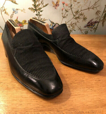 $ CDN256.58 • Buy Star ARTIOLI Vintage Leather Black Handmade Slip On Italian Shoes 10.5 UK