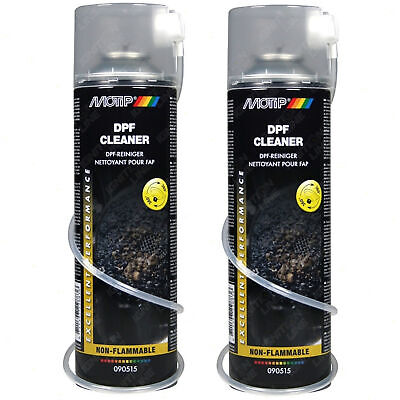 2x Motip DPF Cleaner Diesel Particulate Filter Cleaner Spray Non-Flammable 500ml • 14.89£