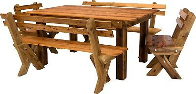 AU1375 • Buy OUTDOOR FURNITURE New Timber Outdoor Setting Seats 8 (orders Only)
