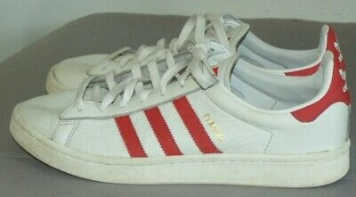 $ CDN39.77 • Buy Adidas Campus Leather Shoes White Red Stripes Mens Size 11.5
