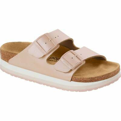 Birkenstock Papillio Arizona Platform Buckled Sandals Icy Metallic Rose Mineral • 59.99£