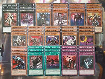 AU56.30 • Buy Yugioh Tournament Ready To Play Vampire 48 Card Deck Fraulein Domination Lord NM