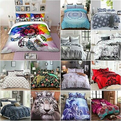 AU47 • Buy 2020 AU Soft Duvet Doona Quilt Cover Set Single Double Queen King Size Bed Set