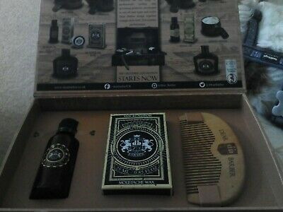 Premium Mens Beard Care Grooming Gift Box Set Kit / Oil Moustache Wax And Comb • 19.50£