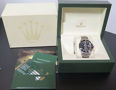 AU13990 • Buy .Auth 2009 Rolex Submariner Date Steel Men's Watch + Box & Card 16610 V Serial