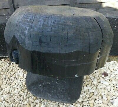 Vintage Wooden Hand Carved Garden Mushroom Toadstool Stool 18  X 19  COLLECTION • 65£