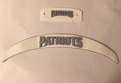 $30 • Buy New England Patriots  Front And Rear 3D Bumpers Riddell Full Size Speed Helmet
