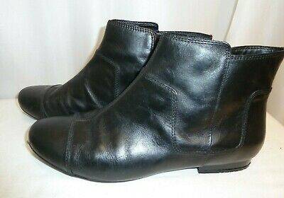 Clarks Cushion Walk Ladies  Leather Ankle Boots UK Size 6.5 Boxed • 7.99£