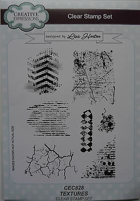 Creative Expressions Clear Stamp Set TEXTURES Crackle Diamond Chevron  • 12.99£
