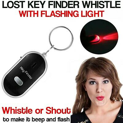 Whistle Lost Key Finder Flashing Beeping Locator Remote Chain LED Sonic Torch UK • 2.59£