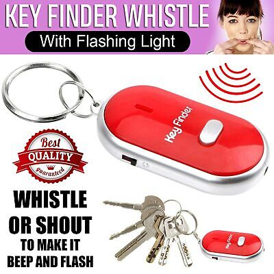 Whistle Lost Key Finder Locator Keys Ring LED Light Remote Control Sonic Torch • 1.89£