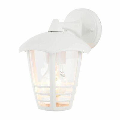 Francis White Outdoor Security Lantern Die Cast Wall Light IP44 Rated Litecraft • 16£