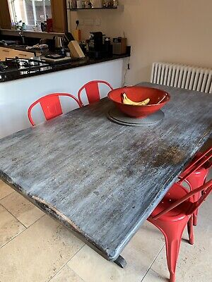 Large Refectory Dining Table /Annie Sloan Graphite / Great For Chalk Paint Proje • 104£