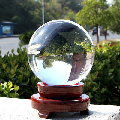 £29.99 • Buy 150MM Clear Crystal Sphere Healing Ball K9 Lens Photography Decor With Base
