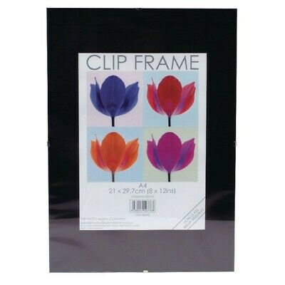 £11.99 • Buy A4 Clip Frame Picture Photo Frames A4 Frameless Poster Framing Acrylic