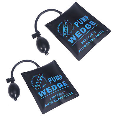 £10.99 • Buy 2X Air Wedge Pump Up Bag For Car Door Window Frame Fitting Install Shim Wedge HY