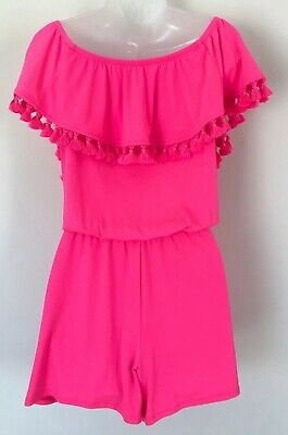 $70 • Buy Lilly Pulitzer La Fortuna Romper Pink Cosmo Size M NWT MSRP $138