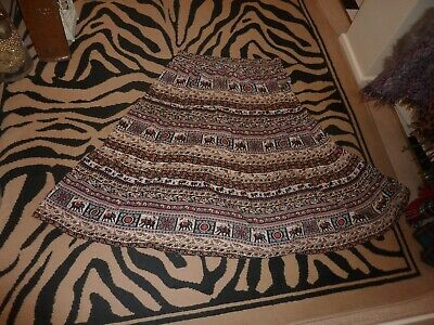 Ladies Cotton Traders Size Uk 20 Lovely, Long, Ethnic Printed Skirt.  Summer. • 2£
