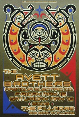 Avett Brothers Magnolia Electric Co. 2009 Fillmore SF F1012 Poster Gary Houston • 18.71£