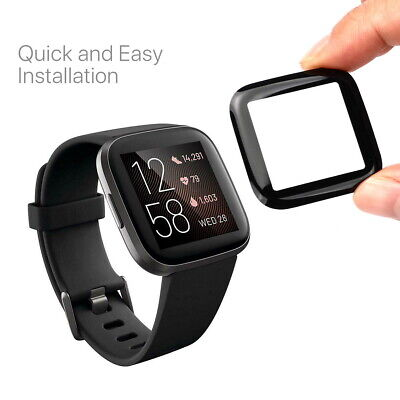 $ CDN9.28 • Buy For Fitbit Versa 2 Screen Protector Cover Tempered HD Full Coverage Glass Guard