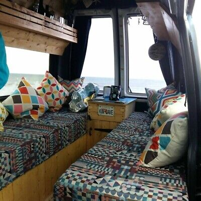 Camper Van Cushion Covers Made To Meausre *Including Fabric* • 60£