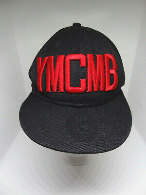 YMCMB Fashion Blogger Hollister Black Embroidered Cotton Snap Back Cap Hat • 11.24£